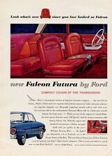1961 Ford Falcon Futura view of Bucket Seats interior  PRINT AD