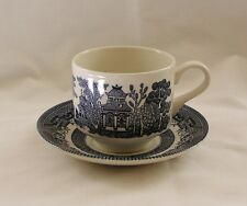 Churchill England Blue Willow Bone China~Cup & Saucer