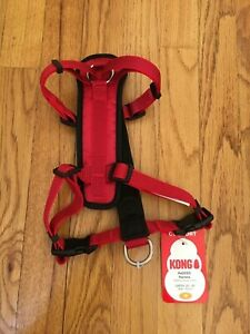"""KONG Padded Chest Plate Dog Harness BRAND NEW-Medium Red Girth 20-29"""" 4 CHARITY"""