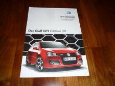 VW Golf GTI EDITION 30 Prospekt 10/2006