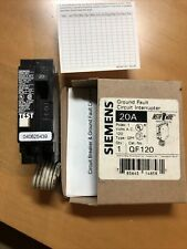 Siemens Qpf120 20 Amp Gfci Ground Fault Circuit Breaker 1 Pole 120 Vac Gfci