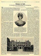 """Madame de Stael Autorin von """"Corinna"""" dem Lieblingsbuch der Königin Luise c.1911"""