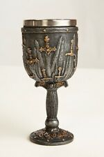 Knights Swords of the Realm GoT Goblet, Gothic Fantasy Chalice Sculpture Superb!