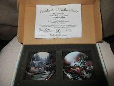 Thomas Kinkade Cedar Nook Cottage Swanbrook Cottage MiniaturePlate set. 2nd set