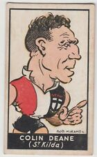 St Kilda Football Club Colin Deane 1930's Bob Mirams Standard cigarette card