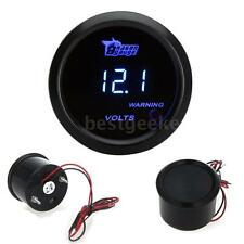 "Car Vehicle 52mm 2"" Blue LED Digital Voltage Meter Volt Gauge 0~15V▁Color: Black"