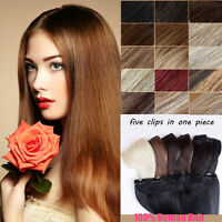 Clip in Remy Human Hair Extensions One Piece Full Head Straight 200g 140g 160g