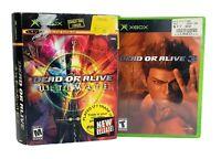 Dead or Alive Ultimate 1, 2, 3 Microsoft Xbox 2004 Complete CIB Bundle of 3