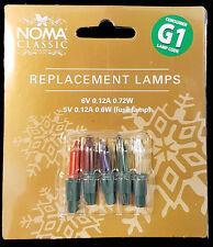 Noma G1 6v 0.12a 0.72W 4 lámparas de color multi y 1 Lámpara de fusible