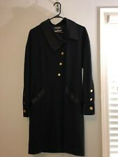 Vintage CHANEL Boutique Long Sleeve Dress Gold Buttons Size 42