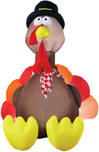 HALLOWEEN THANKSGIVING TURKEY  INFLATABLE AIRBLOWN  6 FT