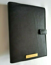 MARC JACOBS BLACK LEATHER BLANK AGENDA BOOK IN WHITE GIFT BOX MADE IN USA