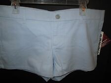 Light Blue Cotton Short Shorts by Dickies, Junior Size 13, NWT
