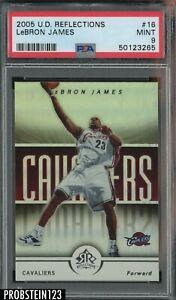 2005 UD Reflections #16 LeBron James Celveland Cavaliers PSA 9 MINT