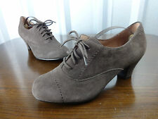 Womens shoes size 5 Hotter brown suede 2 inch heels ladies size 5 lace up shoes