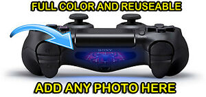 Personalized PS4 Controller Custom Lightbar Sticker Decal Full Color Reusable