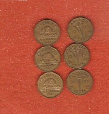 6 1942 & 1943 Tombac Five Cent Coins 3 of each date (Nice collectable coins)