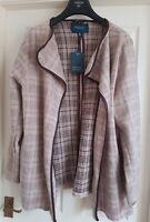 BNWT EMONITE  Plus size Checkered Thick Warm Cardigan Cover ups. UK24