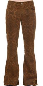 HOMME Rétro Vintage 60'S 70'S Style Pantalon Patte D' Eph Évasé Tabac Cachemire