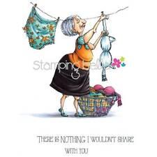 New Stamping Bella Cling Rubber Stamp lady SENIOR-ita Sylvia Laundry Freeus ship