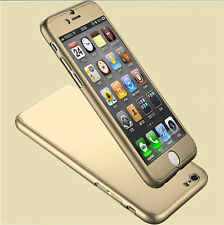 Case/cover Apple iPhone 5 5s SE Tempered Glass Screen Protector / 360 Sleeve Gold