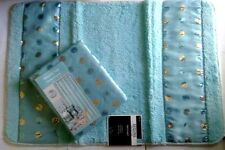 Sequins Teal Fabric Shower Curtain & Matching Bath Mat Popular Bath Home Decor
