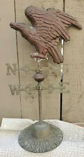 "Vintage Brass & Copper Table Top Free Standing ""American Bald Eagle"" Weathervane"