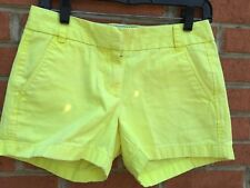 J. CREW Womens Size 2 Yellow Chino Cotton Short Shorts
