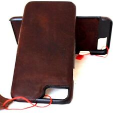 genuine retro natural leather Case for apple iphone 6 6s thin hard cover slim uk