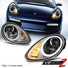 987 Porsche Cayman Boxster 05-08 D1S Xenon LEFT+RIGHT LED DRL Headlights Lamps