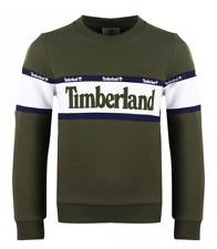 Timberland Classic Kids Sweatshirt Khaki Green Boys All Sizes