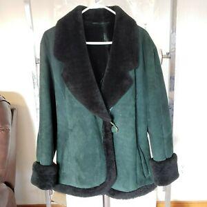 Cute Vintage Shearling Genuine Sheepskin Coat