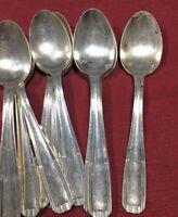 Set of 12 Vintage Christofle Alfenide Soup Spoons