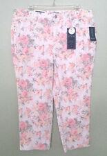 Charter Club Women's Plus Size Bristol Printed Tummy-Control Capri Jeans,14W