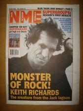 NME 1995 JUL 8 KEITH RICHARDS BLUR OASIS SUPERGRASS