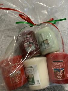 5pc Yankee Candle Christmas Scents Votive Assorted Gift Bag #5 New Ships Free
