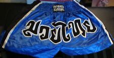 Ring To Cage, Mma Shorts,Size Large,Jiujitsu,Karate,Blu e/White