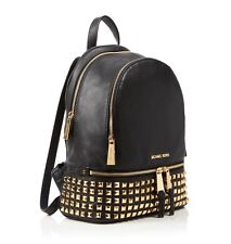 Michael Kors Medium Rhea Studded Black Backpack Rrp £390