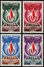 ✔️ FRANCE 1969/1971  UNESCO HUMAN RIGHTS FLAME - SC.2O9/2O12 MNH OG [FROU.9/12]