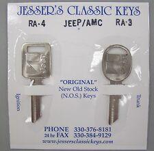 NOS Very Rare Orignal Jeep / AMC Nickel Keys 1978 1979 1980 1981 1982 1983 1984