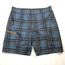 Mens Columbia Plaid Cargo Novelty Shorts Size 38 Omni-Shade