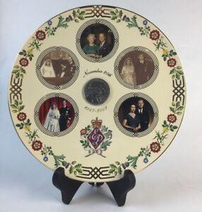 60 Glorious Years Royal Diamond Wedding Anniversary Commemorative Coin Plate