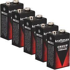 5x Rauchmelder 9V Lithium Batterien für Feuermelder / 9v Block Batterie 10 Jahre