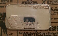 Charles Prime Properties COMMERCIAL 999 SILVER ART BAR 1 Troy oz Rare Find