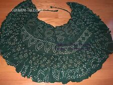 Dark Green Jaipur Wrap Skirt Gypsy Tribal Fusion Belly Dancel ATS