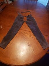 Youth Large Chaps, Western, Show, Leather/Suede, Grey