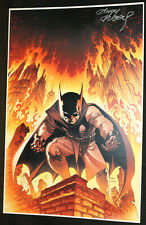 Batman Damian Wayne Print (VF) Signed in SILVER by Andy Kubert