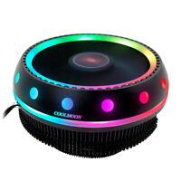 COOLMOON UFO RGB CPU Cooler Heatsink LED 12V for Intel AMD PC Processor Des W8L5