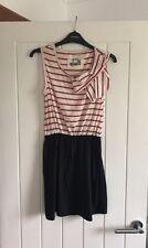RIVER ISLAND 🦄 Red Navy Stripe Tunic Dress 10 Nautical Casual Summer Light