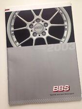 BBS Felgen Prospekt - VW Audi Mercedes BMW Porsche - 2003 - Top! Rarität!!!